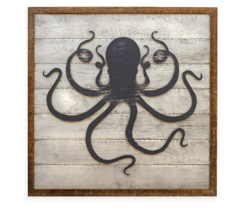 Deep Sea Octopus Framed - Haven America