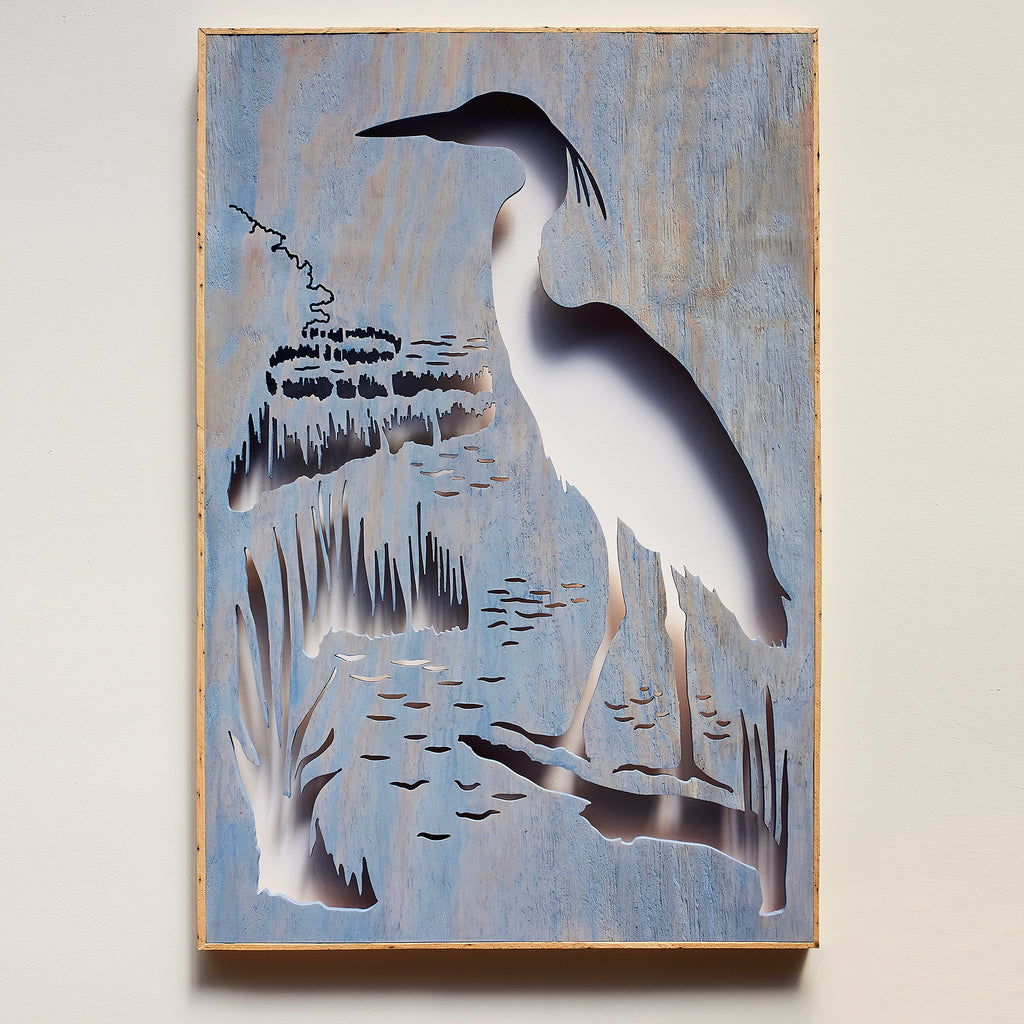 Great Blue Herron Wall Art Framed - Haven America