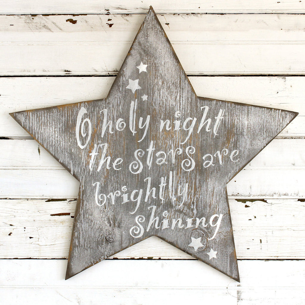 Holy Night Star Wooden Wall Art - Haven America