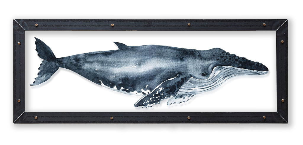 Humpback Whale Print with Metal Frame - Haven America