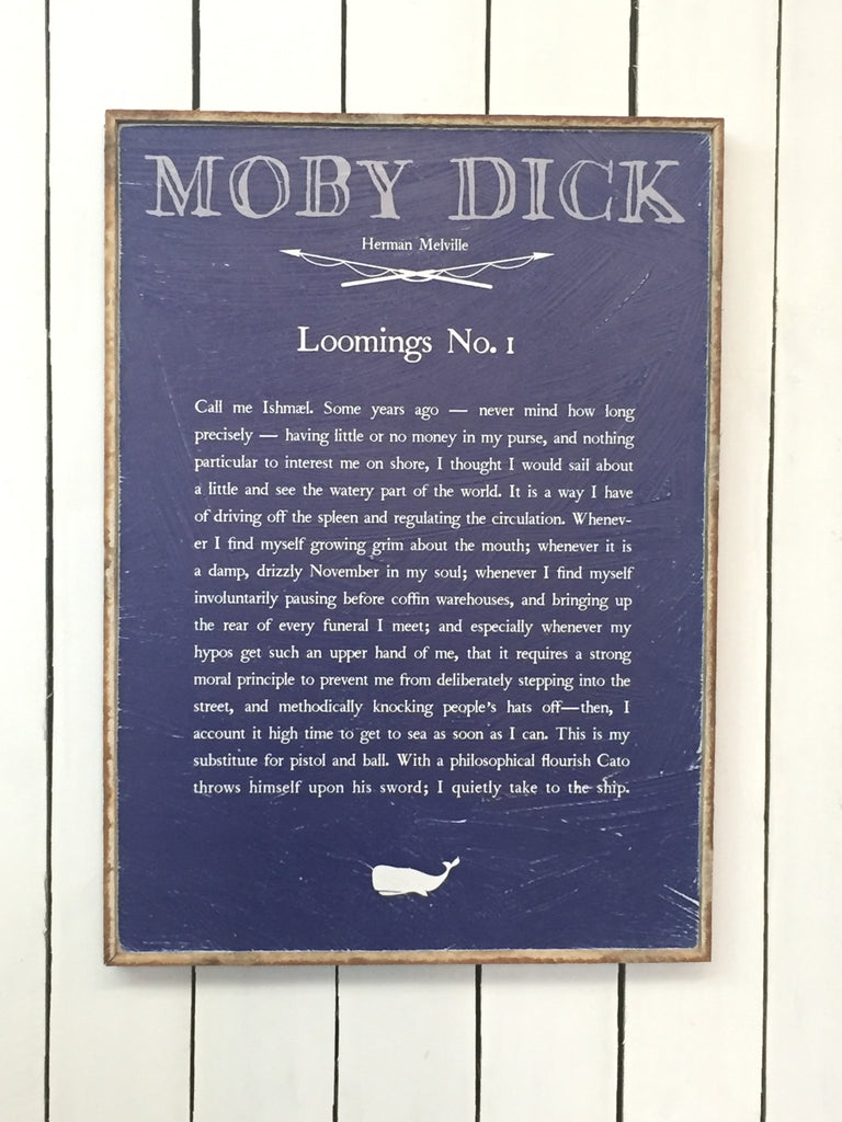 Loomings No. 1  Moby Dick Book Plate Framed