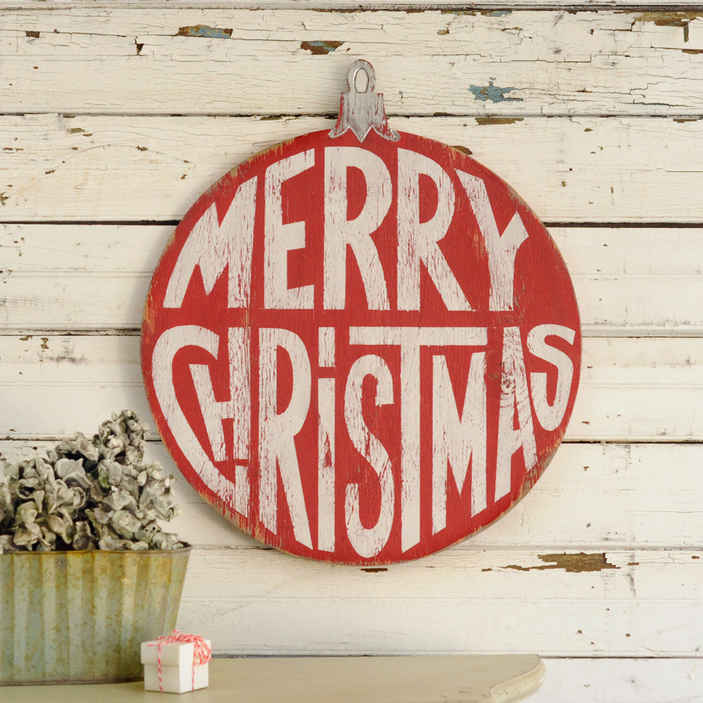 Retro Christmas Ornament Sign - Haven America