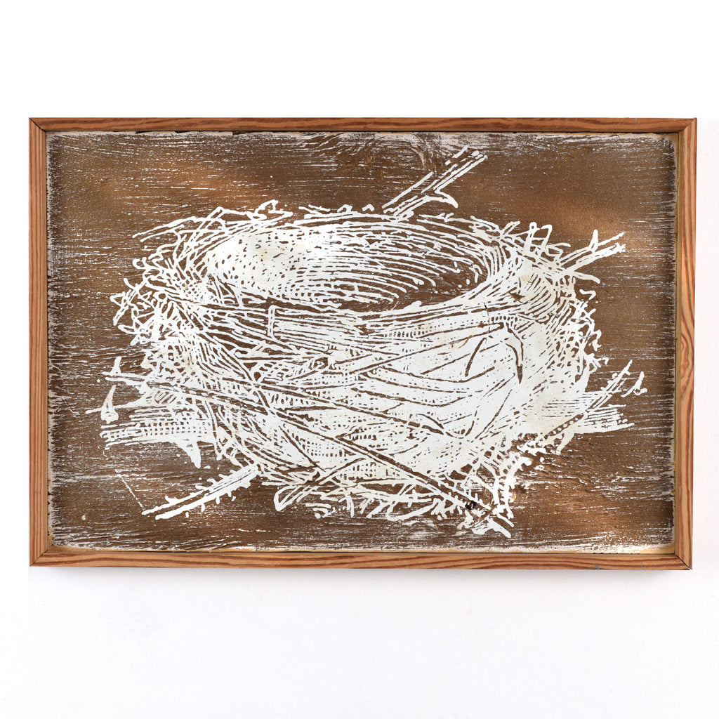 Nest Screen Print Natural Wood Frame - Haven America