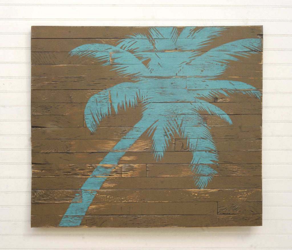 Pallet Palm Tree Rustic Wall Decor - Haven America