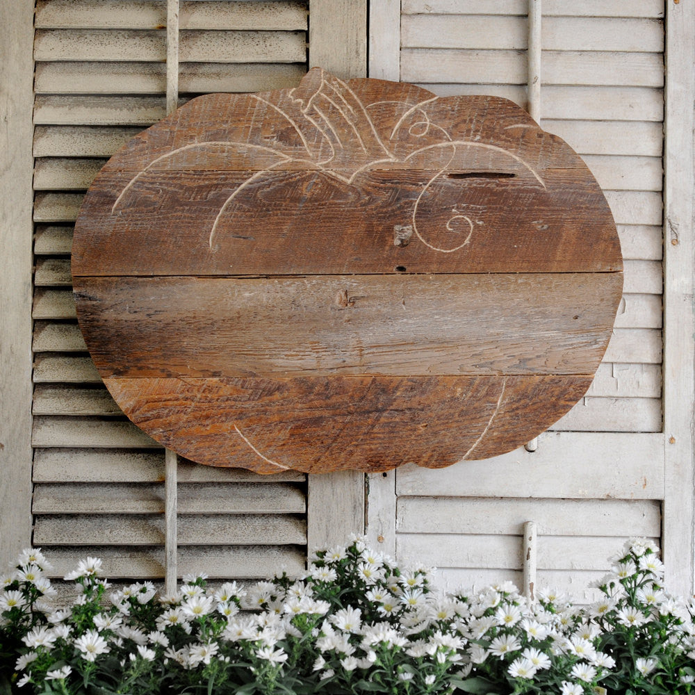 Rustic Wooden Pumpkin - Haven America