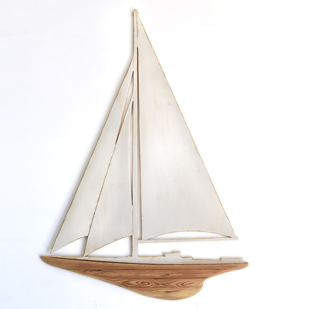 Sailboat Wooden Two Piece Wall Art - Haven America