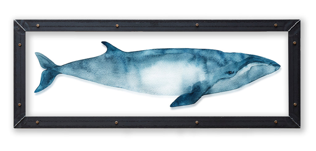 Sei Whale Print with Metal Frame - Haven America