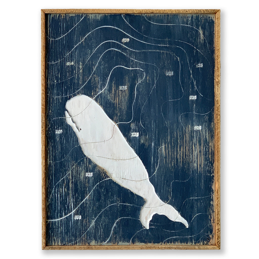It Is Moby Dick White Whale Art Framed - Haven America