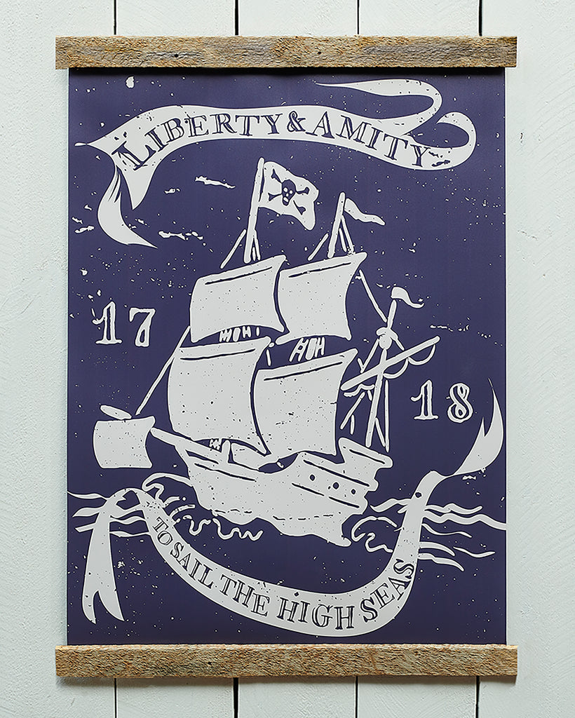 Pirate Ship Banner Liberty and Amity - Haven America