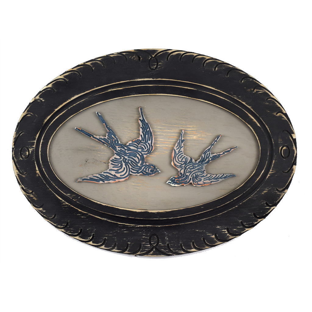 Swallow Pair Oval Frame - Haven America