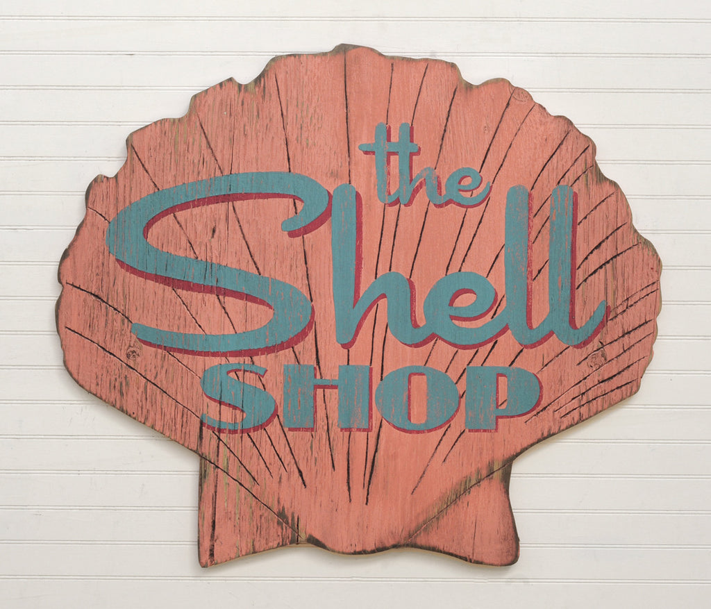 The Sea Shell Shop Sign Wall Decor - Haven America