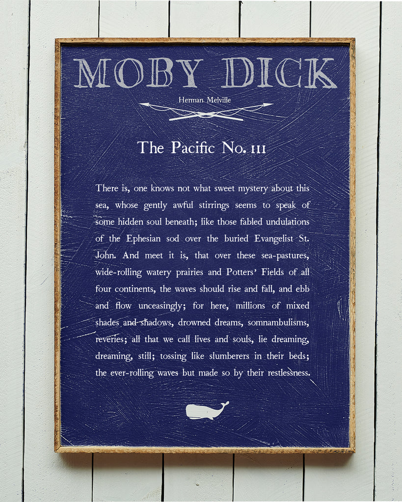 The Pacific No. 111 Moby Dick Book Plate Framed - Haven America