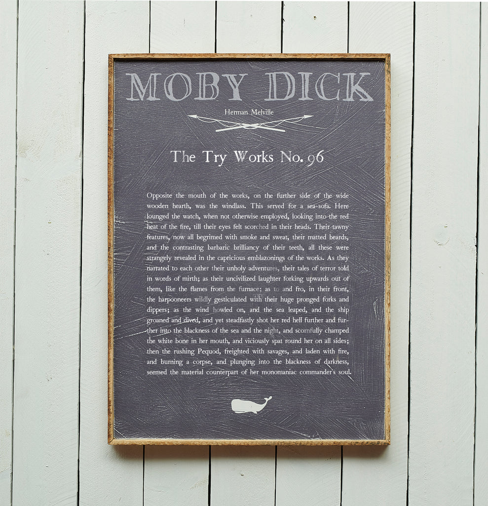 The Try Works No. 96 Moby Dick Book Plate Framed - Haven America