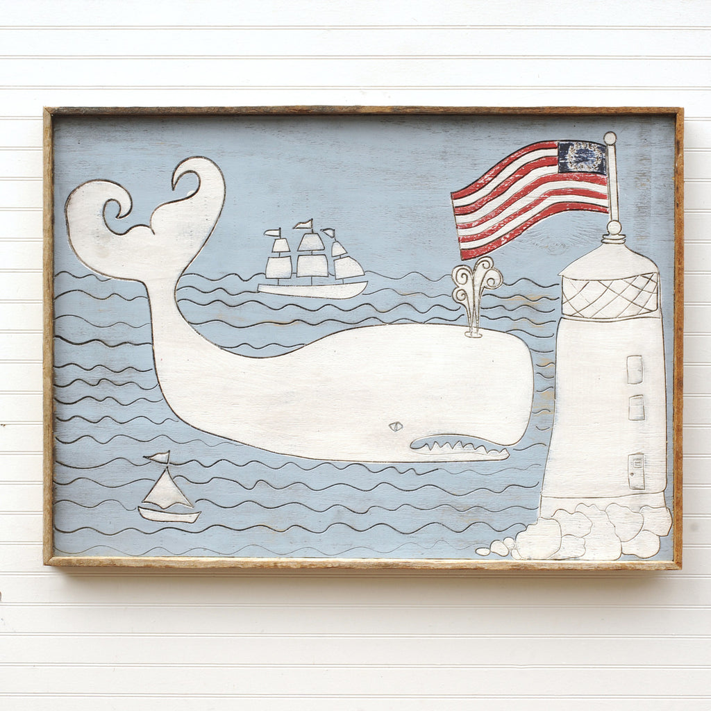 Whale with Lighthouse - Haven America