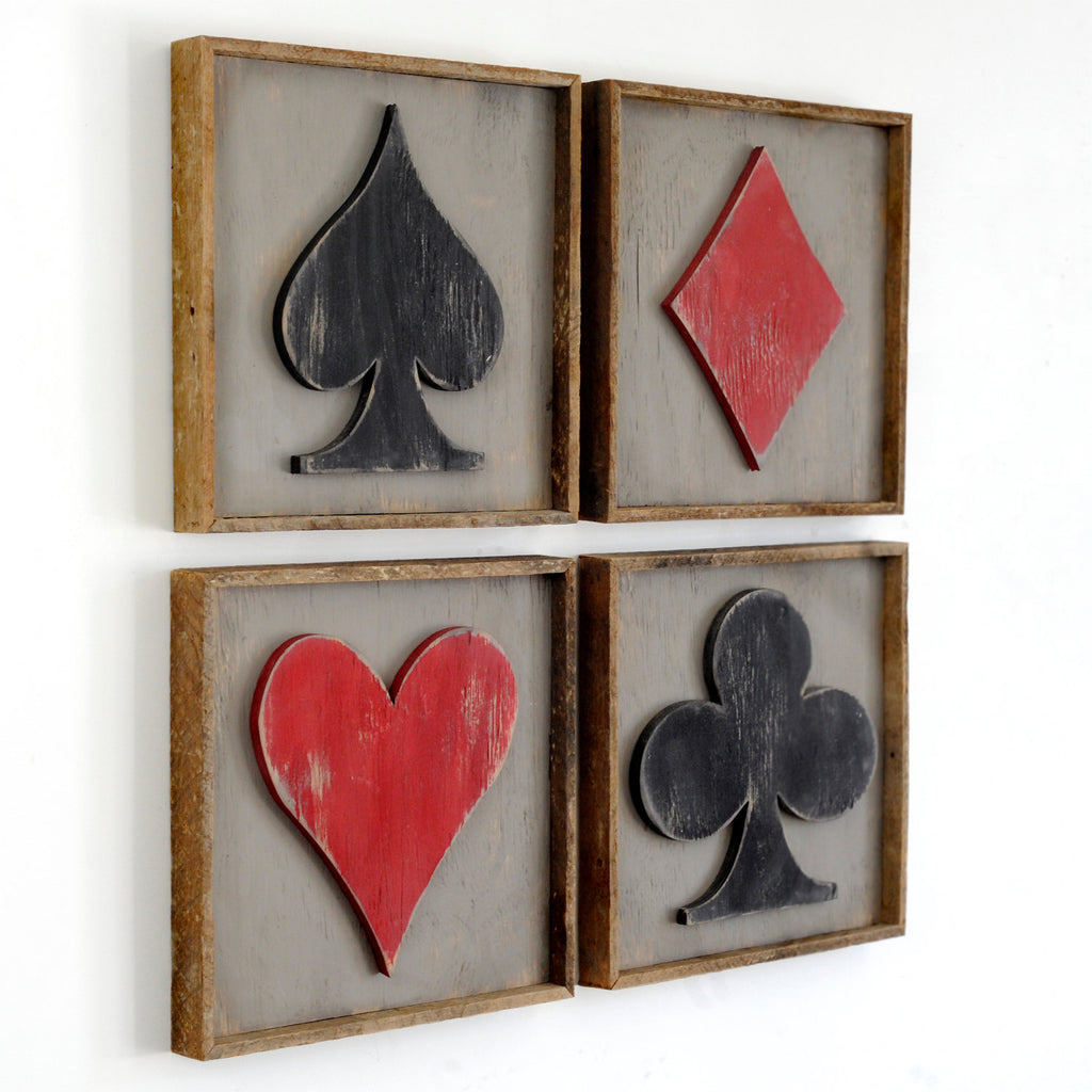 Playing Card Symbols Framed - Haven America