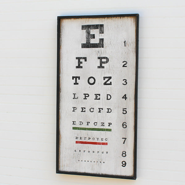 Eye Chart Black  Framed - Haven America