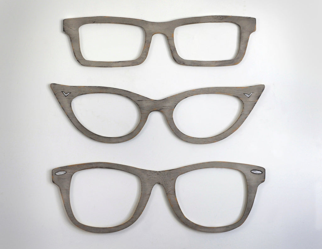 Eyeglasses Wooden Wall Decor - Haven America