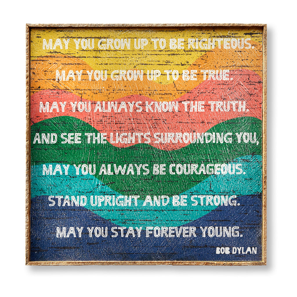 Forever Young Quote Art Print Framed - Haven America