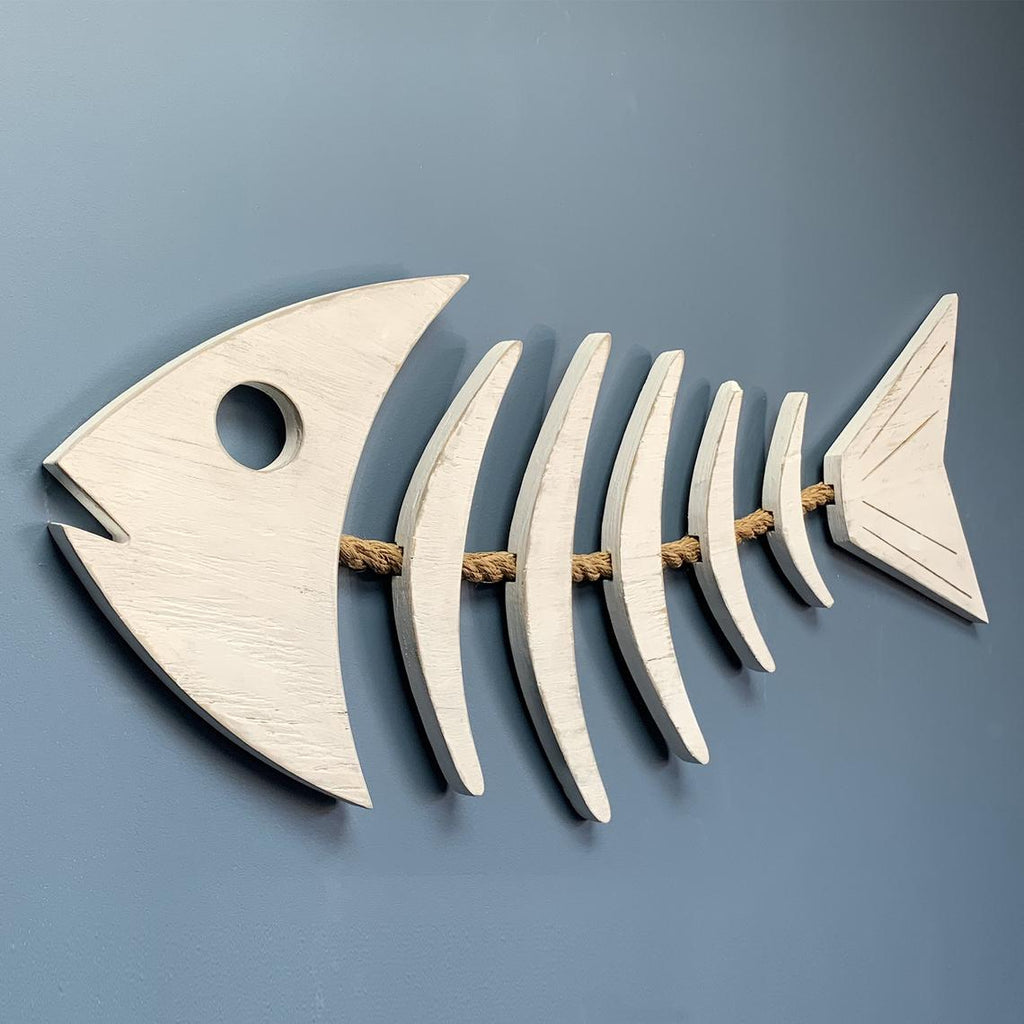 Wooden Fish Bone Rope Sign