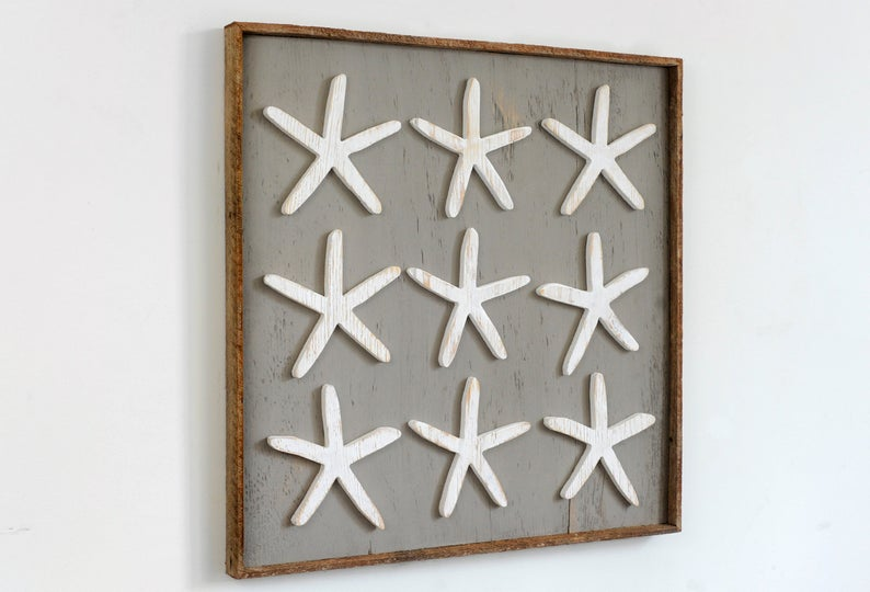 Finger Starfish Wall Art Framed - Haven America