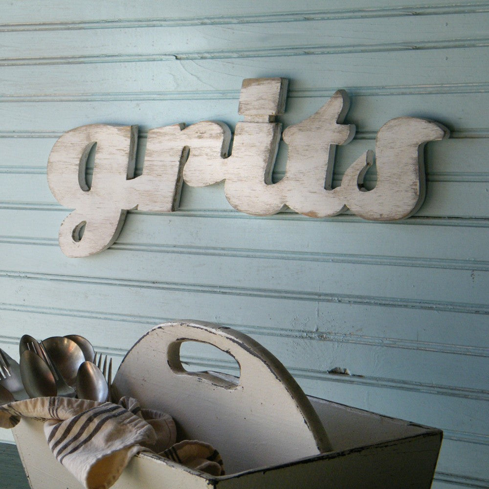 Grits Word Sign - Haven America