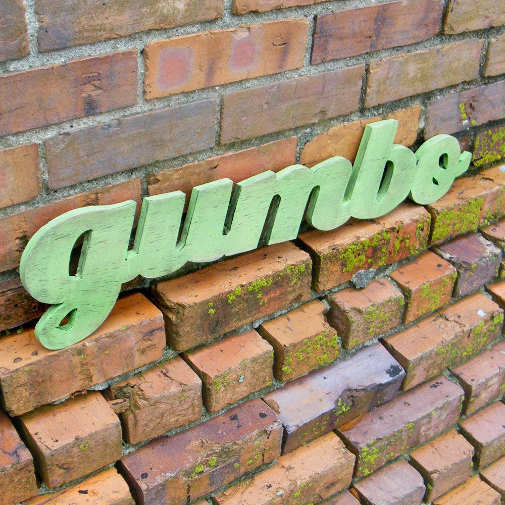 Gumbo word sign - Haven America