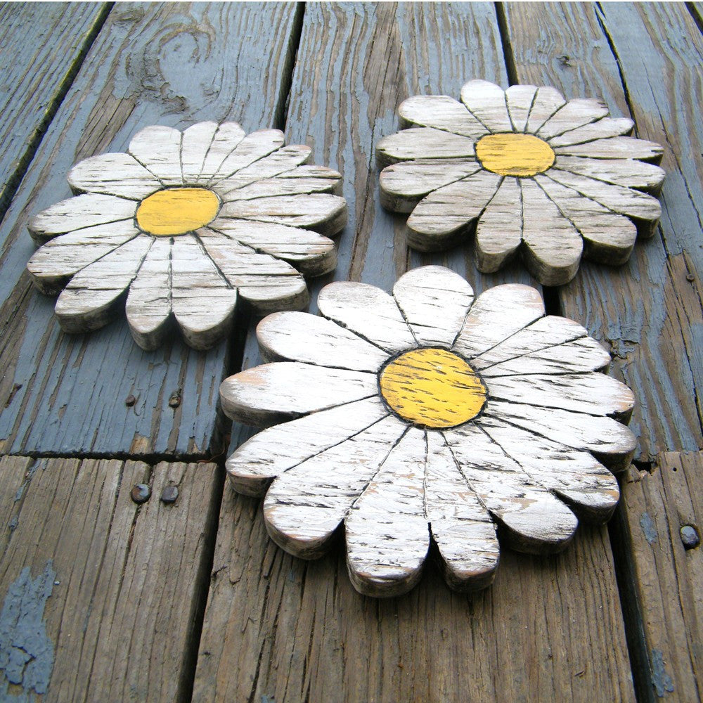 Daisies Flower Wall Decor 3 Pc Set - Haven America