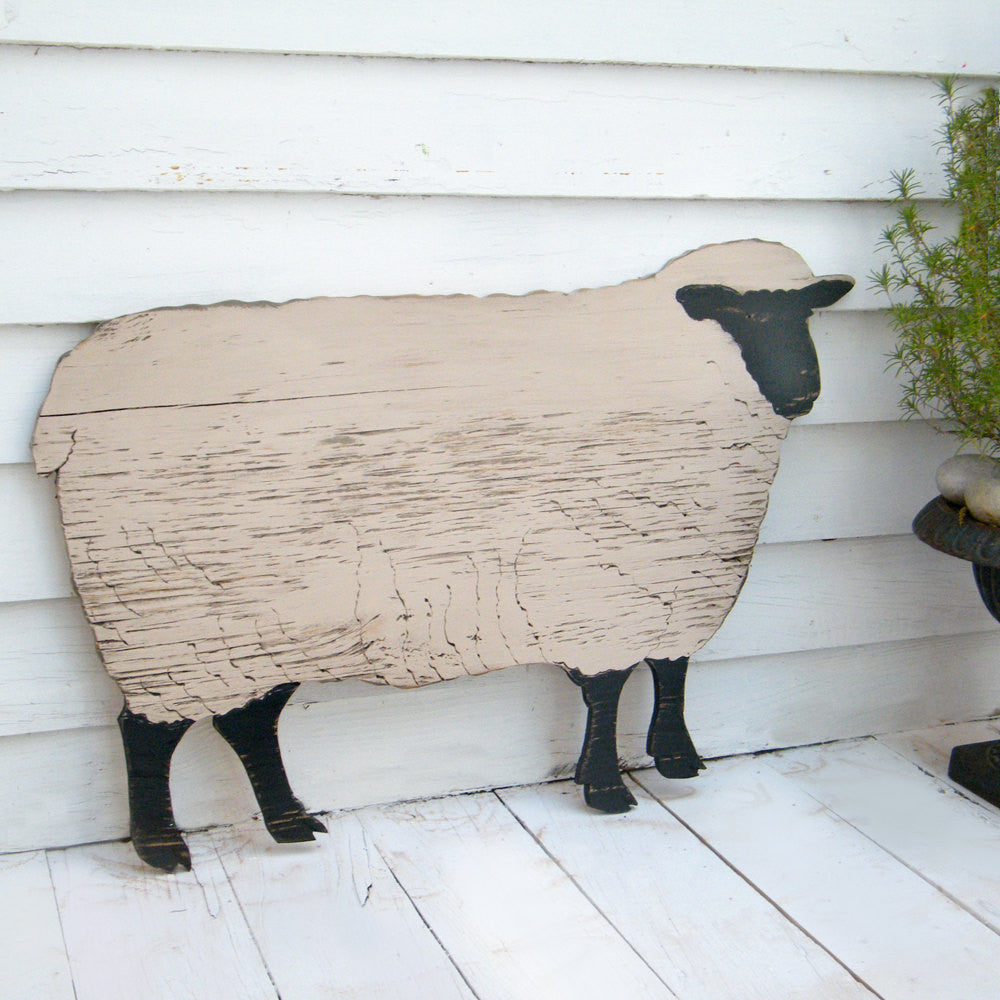 Black Face Sheep Wooden Wall Art - Haven America