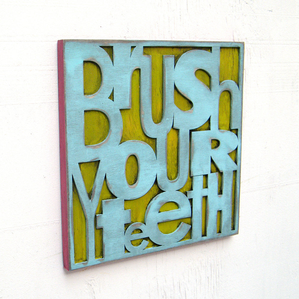 Brush Your Teeth Wall Art - Haven America