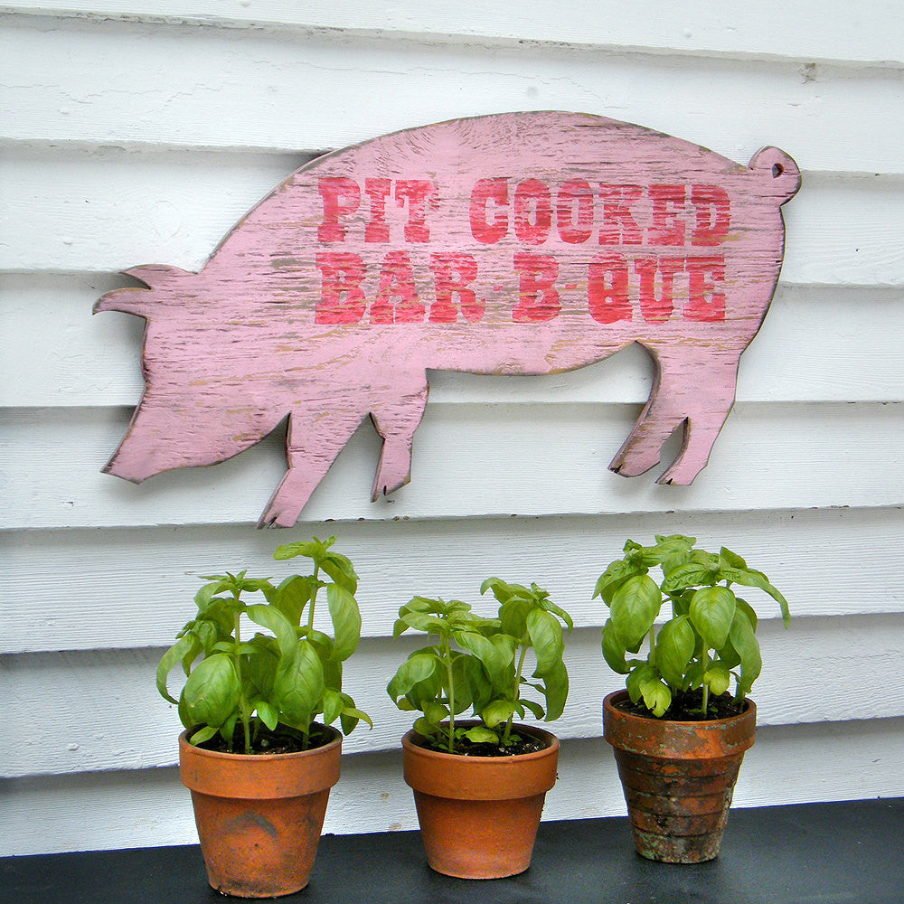 Pit Cooked BBQ Pig Wall Art - Haven America