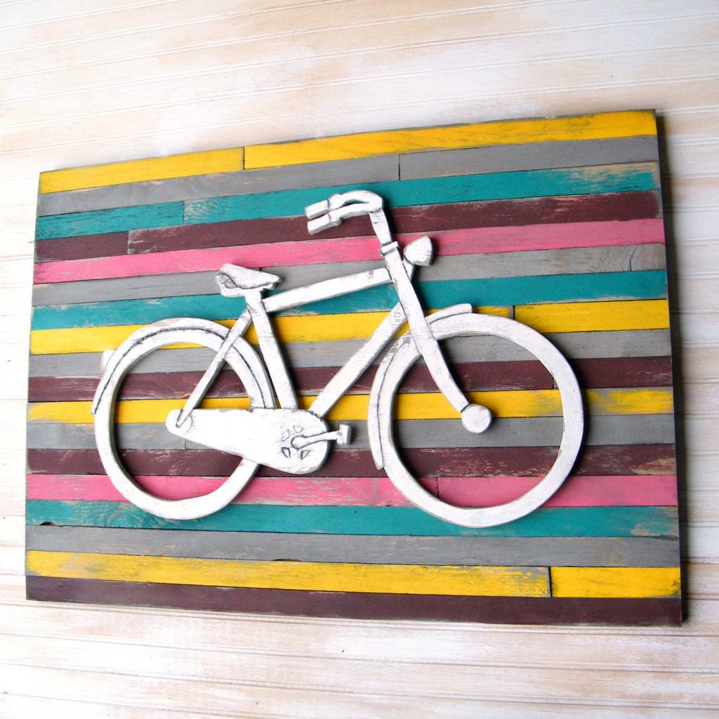 Pallet Bicycle Wall Art - Haven America