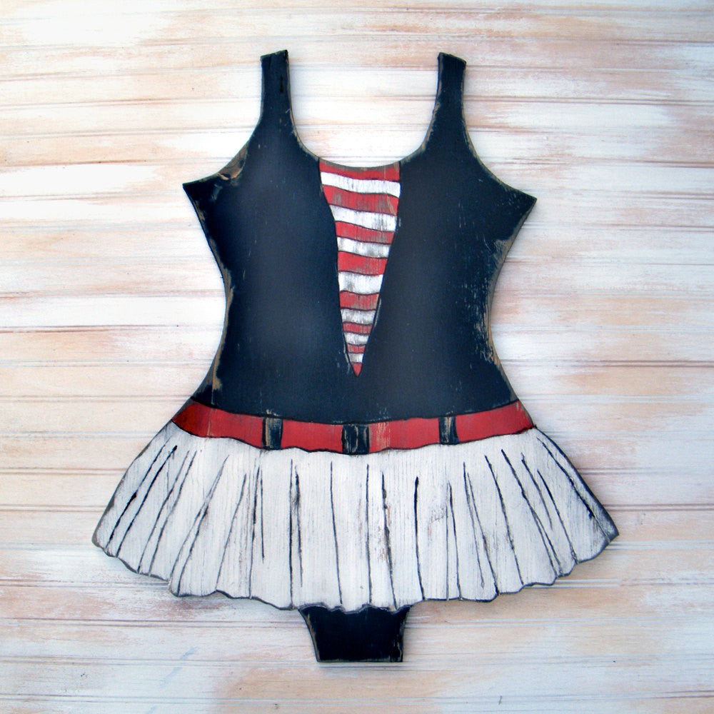 Sailor Girl Swimsuit Wall Decor - Haven America