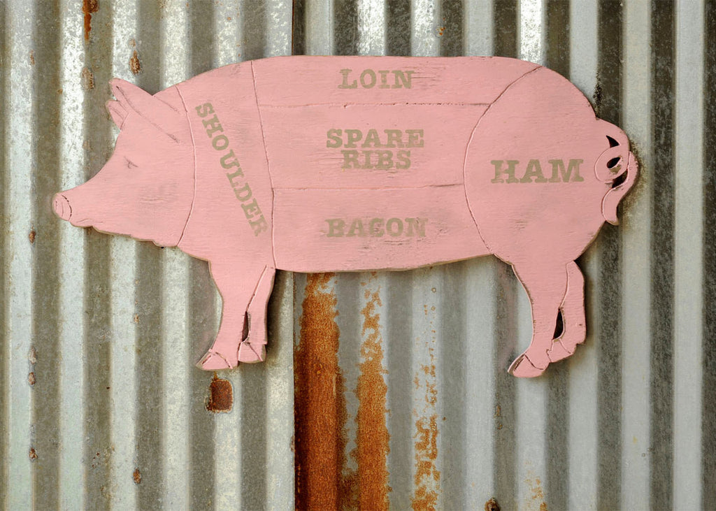 Butcher Shop Pig Wall Art - Haven America