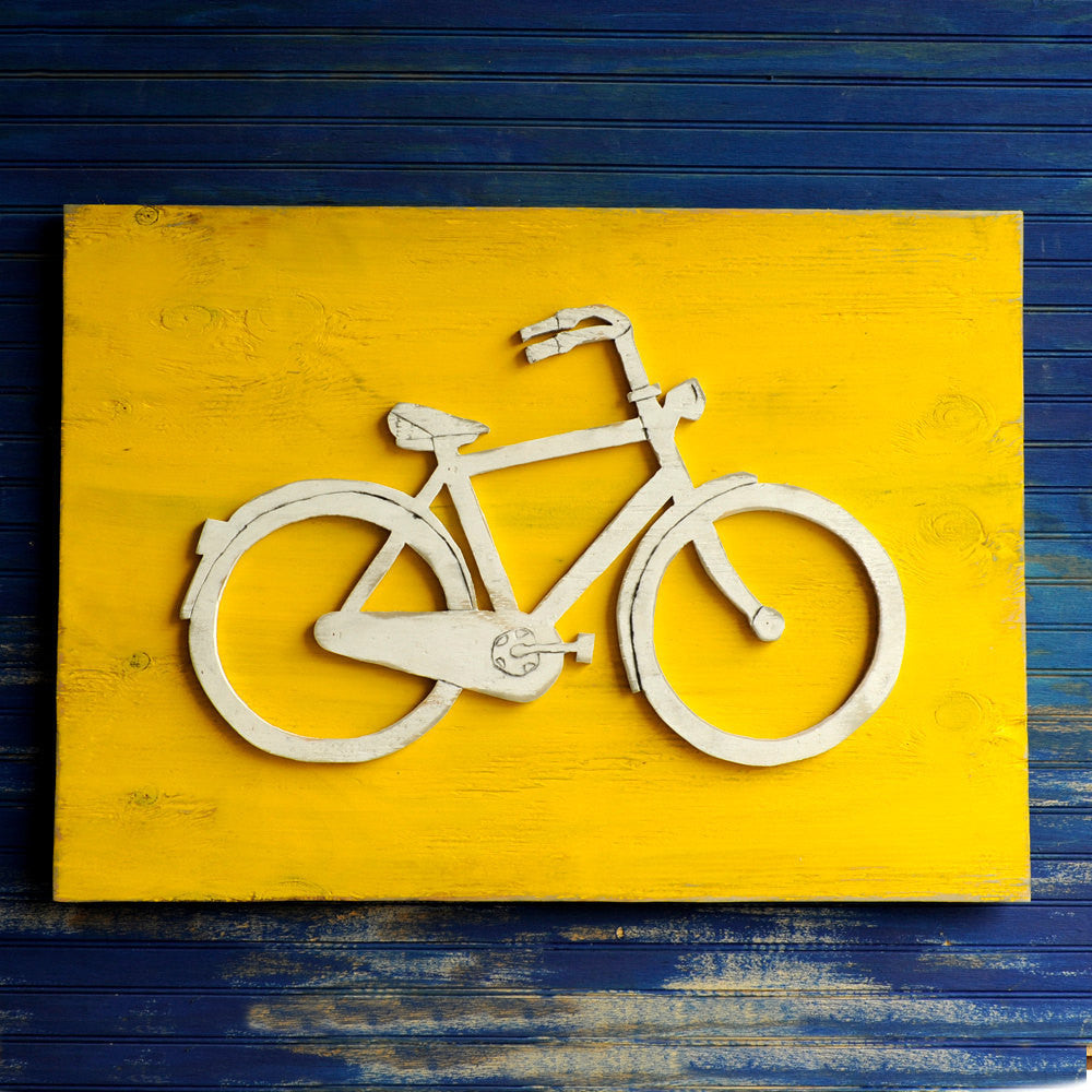 Bicycle Solid Color Wall Art - Haven America