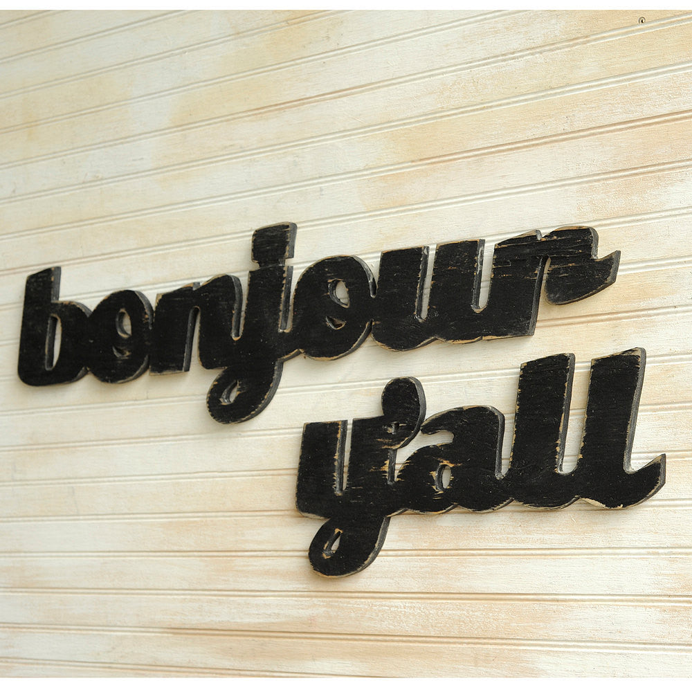 Bonjour Y'all Word Sign - Haven America