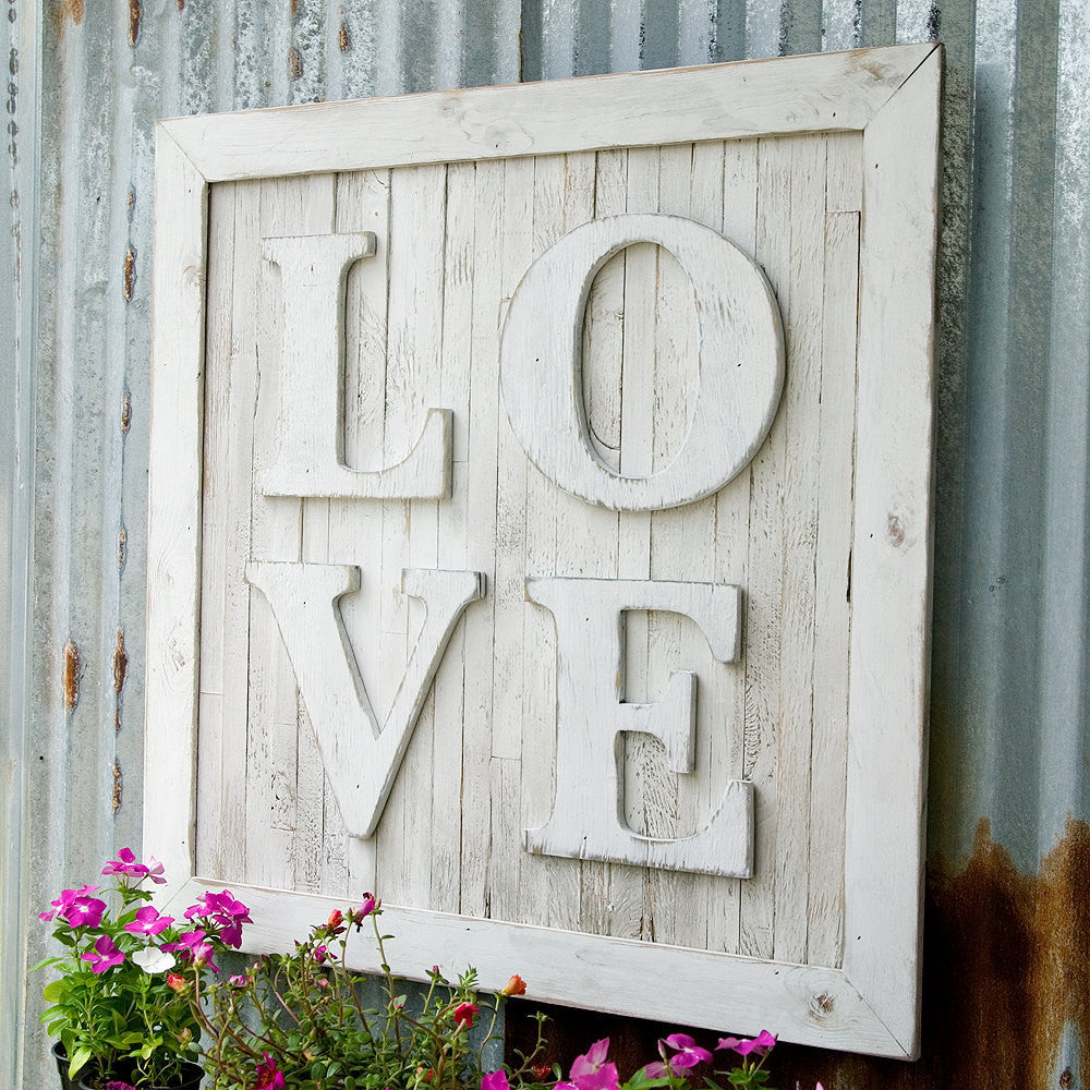 Love Pallet Wooden Wall Art - Haven America