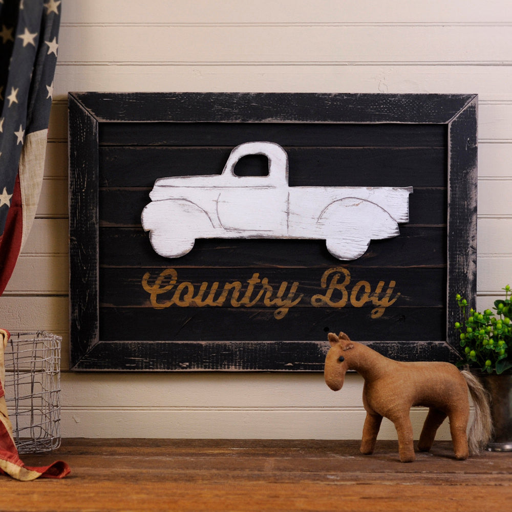 Country Boy Truck Wall Art - Haven America