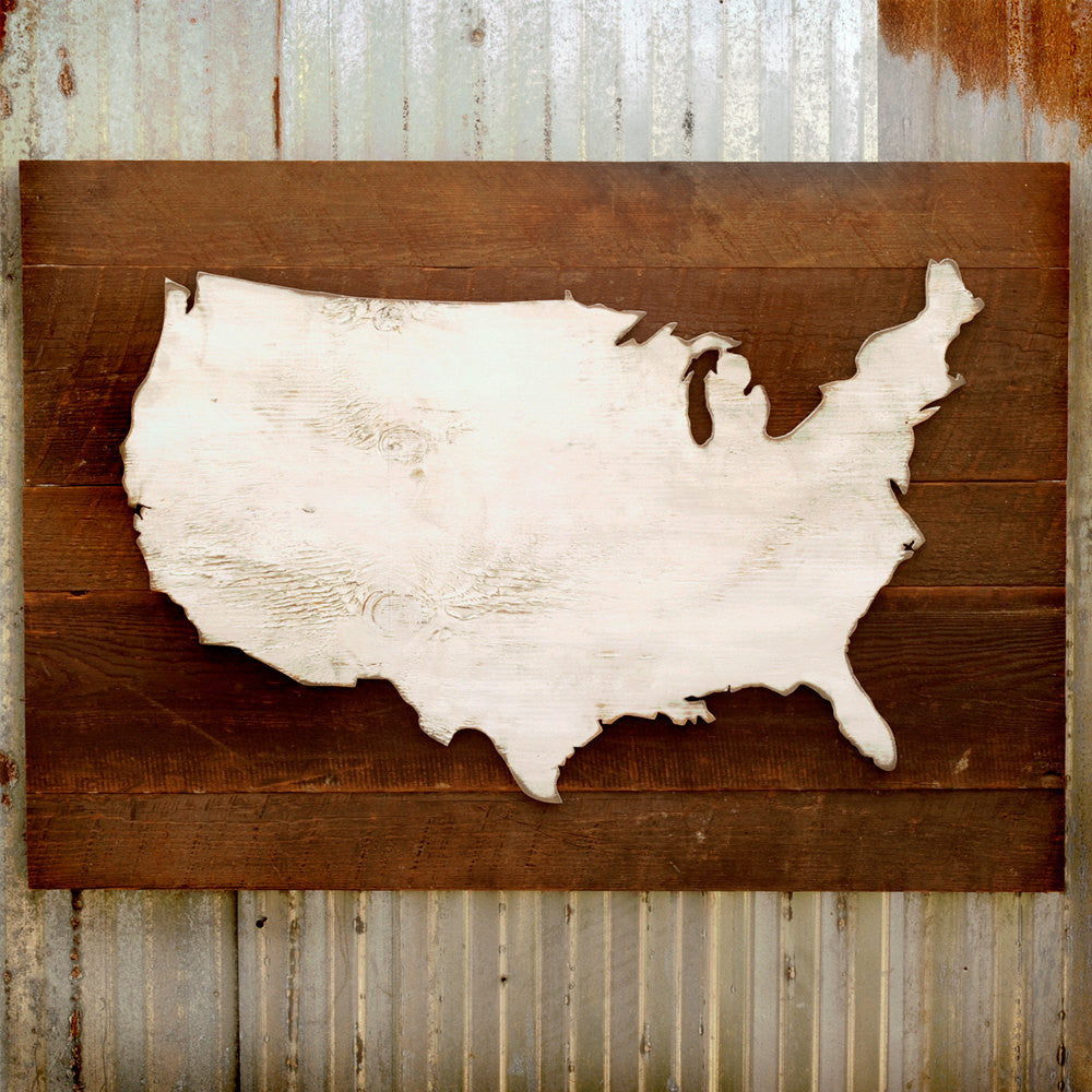 Rustic US Map - Haven America