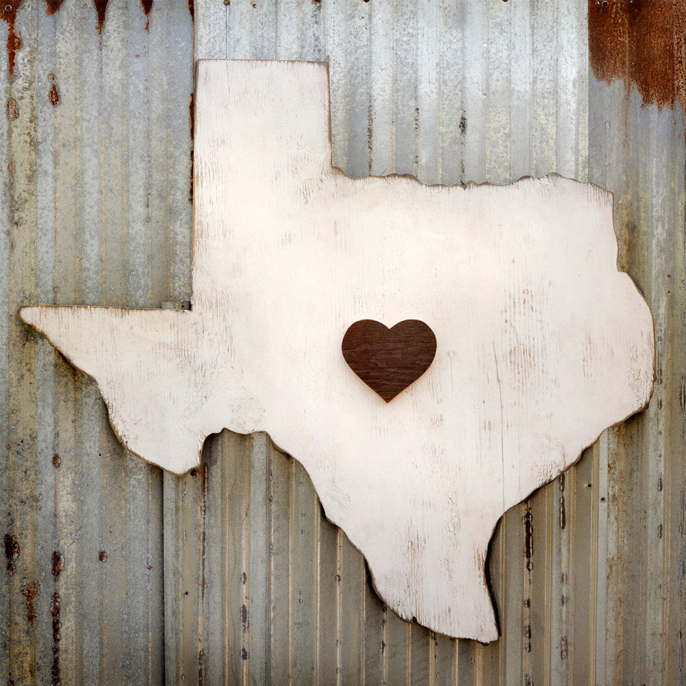 State Heart Map Texas - Haven America