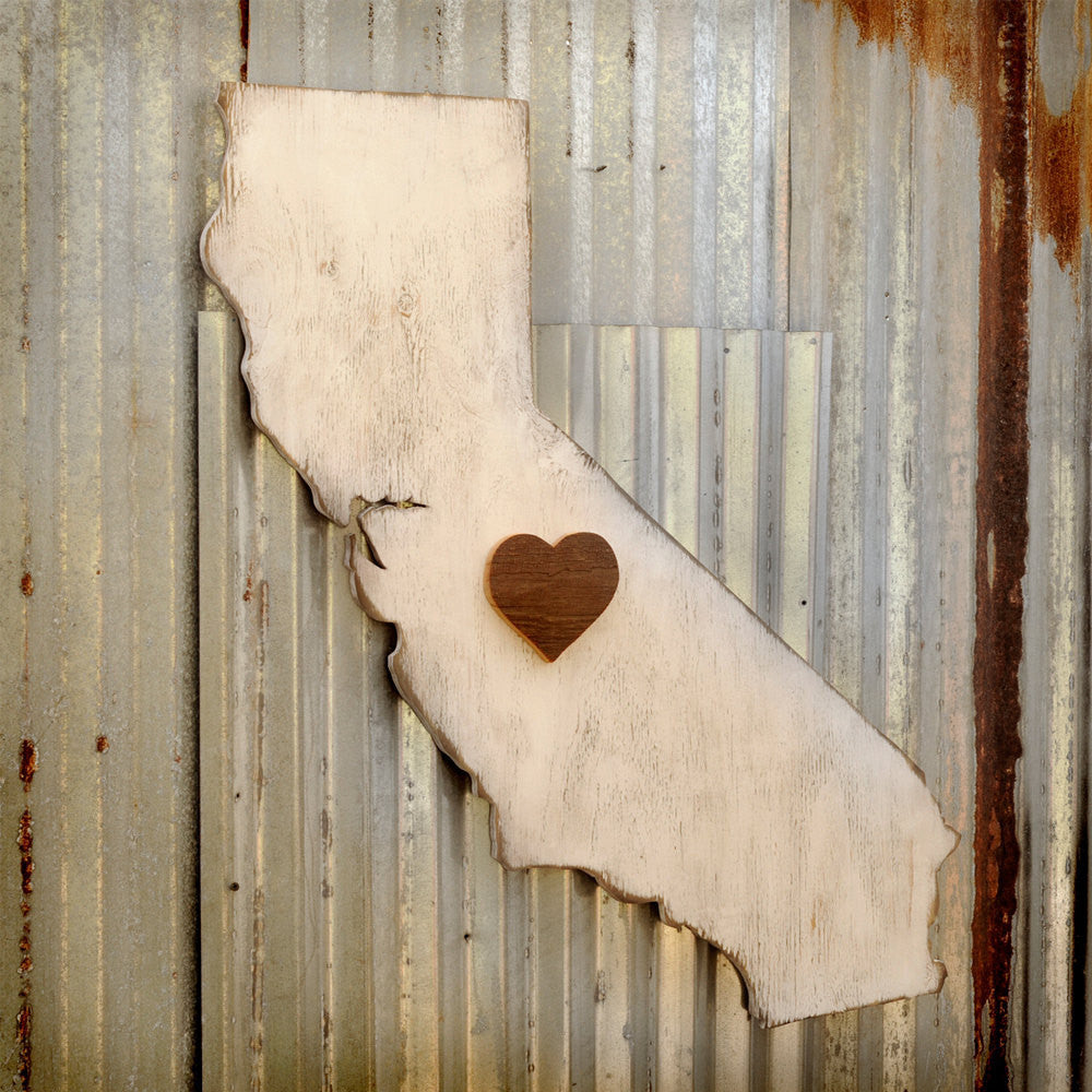 State Map Heart California - Haven America
