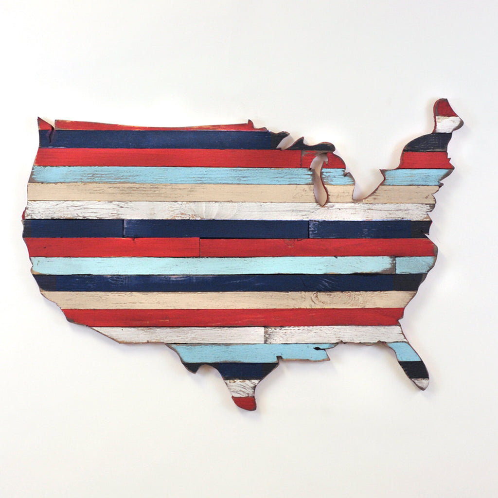 United States of America Pallet Map USA Stars and Stripes - Haven America