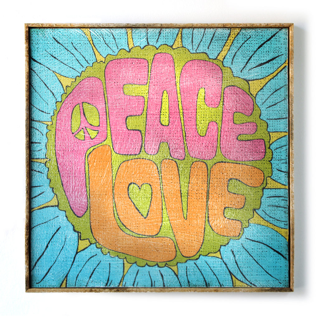 Peace Love Flower SOUL Print - Haven America