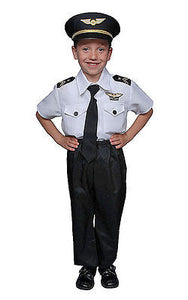 KIDS DELUXE AIRLINE PILOT COSTUME