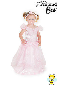 GIRLS KIDS CHILDRENS TODDLERS DELUXE PINK PRINCESS FANCY DRESS COSTUME AGE 2-3