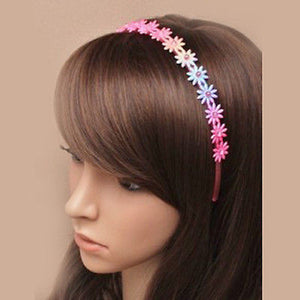 GIRLS PINK GLITTER FLOWER ALICE BAND FAB FAIRY PRINCESS COSTUME HAIR ACCESSORY