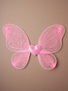 CHILDRENS KIDS GIRLS SMALL PINK SPARKLY CHRISTMAS FAIRY ANGEL FANCY DRESS WINGS