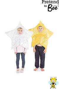 CHILDRENS KIDS CHILDS SILVER GOLD NATIVITY CHRISTMAS STAR COSTUME OUTFIT AGE 3-7