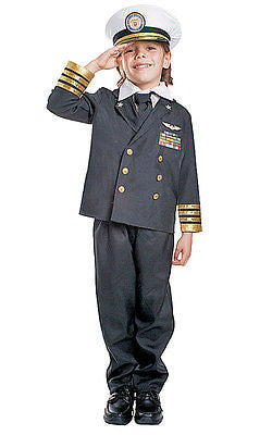BOYS DELUXE NAVY ADMIRAL COSTUME