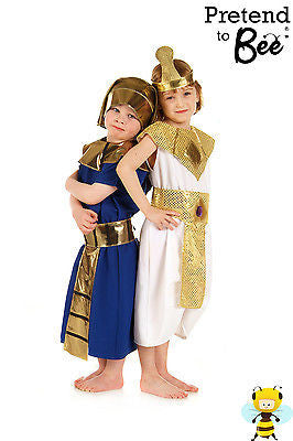 GIRLS KIDS CHILDRENS DELUXE ANCIENT EGYPTIAN CLEOPATRA QUEEN COSTUME AGE 3-5-7-9
