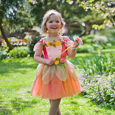GIRLS PEACH FLOWER FAIRY COSTUME